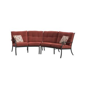 Burnella - Burnt Orange - Sectional Lounge