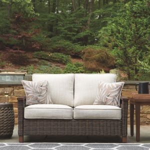 Paradise Trail - Medium Brown - Loveseat w/Cushion