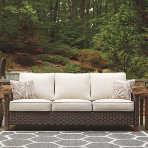 Paradise Trail - Medium Brown - Sofa with Cushion