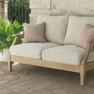 Clare View - Beige - Loveseat w/Cushion