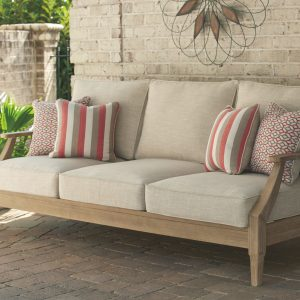 Clare View - Beige - Sofa with Cushion