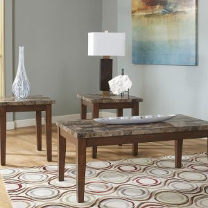 Theo - Warm Brown - Occasional Table Set (3/CN)
