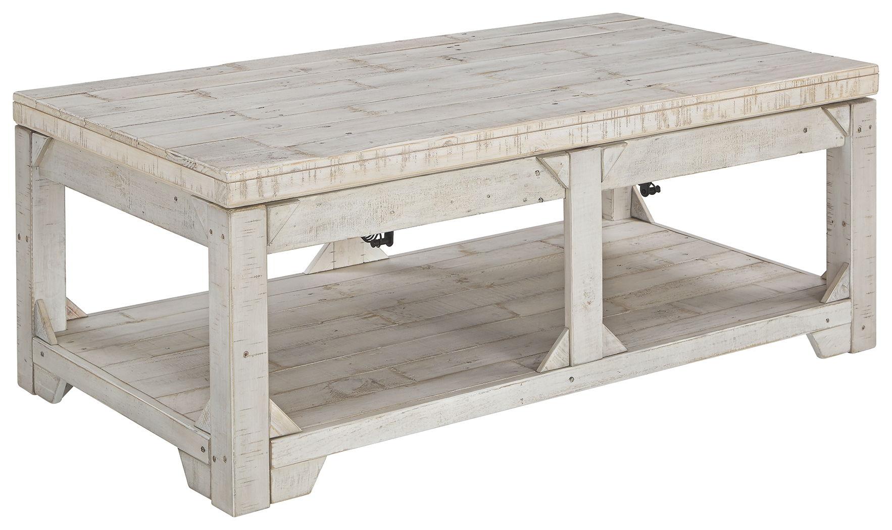 - Fregine - Whitewash - Lift Top Cocktail Table Furniture