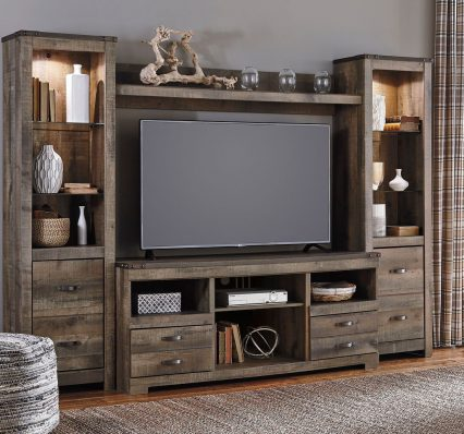 Trinell - Entertainment Center - Large TV Stand