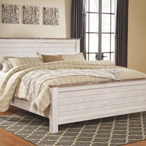 Willowton - Whitewash - California King Panel Bed