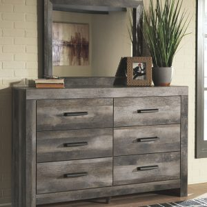Wynnlow - Gray - 4 Pc. - Dresser, Mirror & King Panel Bed 1