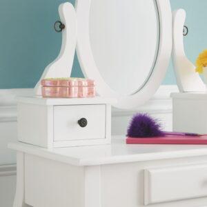 Kaslyn - White - Vanity/Mirror/Stool