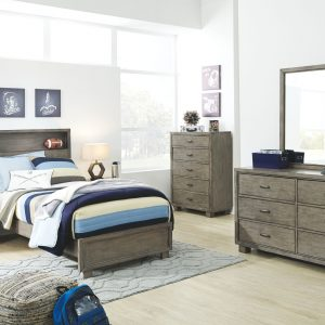 Arnett - Gray - Twin Storage Bed 1