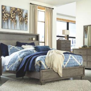 Arnett - Gray - Queen Storage Bed 1
