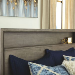 Arnett - Gray - King Storage Bed 1