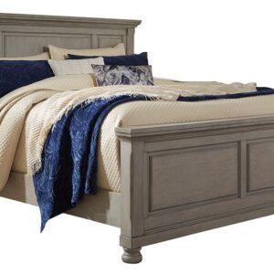 Lettner - Light Gray - California King Panel Bed