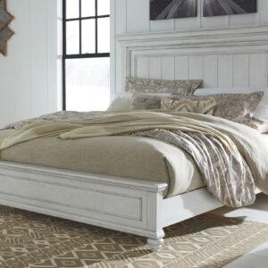 Kanwyn - Whitewash - California King Panel Bed