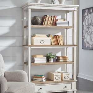 Realyn - Brown/White - Bookcase
