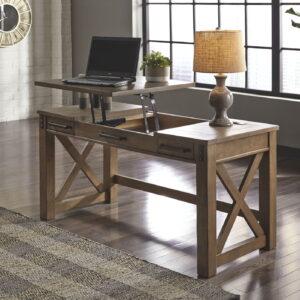 Aldwin - Gray - Lift Top Desk & Swivel Desk Chair 1