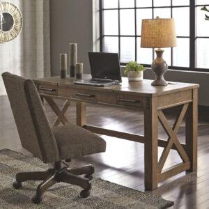 Aldwin - Gray - Lift Top Desk & Swivel Desk Chair