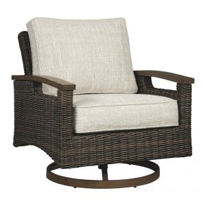 Paradise Trail - Medium Brown - Swivel Lounge Chair (2/CN)