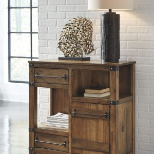 Roybeck - Light Brown/Bronze - Accent Cabinet