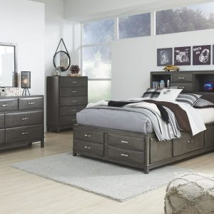 Caitbrook - Gray - Five Drawer Chest 1