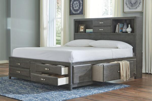Caitbrook - Gray - King Storage Bed