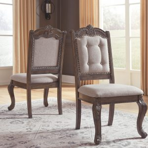 Charmond - Brown - Dining UPH Side Chair each (2/CN)