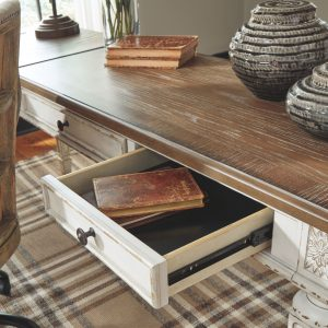 Realyn - White/Brown - Home Office Lift Top Desk 1
