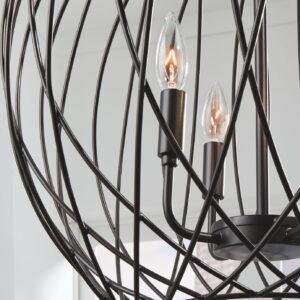 Maalik - Bronze Finish - Metal Pendant Lamp (1/CN) 1