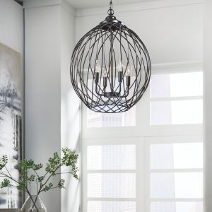 Maalik - Bronze Finish - Metal Pendant Lamp (1/CN)