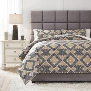 Scylla - Brown/Black - Queen Comforter Set