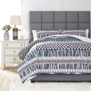 Shilliam - Navy/Rust - Queen Comforter Set