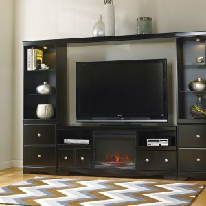 Shay Entertainment Wall with Fireplace Insert