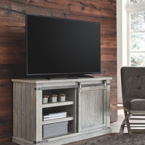 Carynhurst - Whitewash - Medium TV Stand