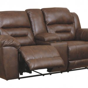 Stoneland - Chocolate - DBL REC PWR Loveseat w/Console