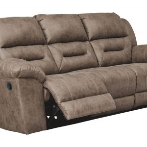 Stoneland - Fossil - Reclining Sofa