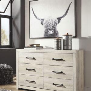 Cambeck - Whitewash - Dresser & Mirror 1