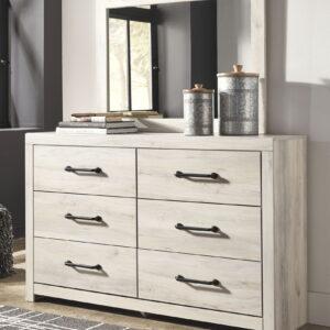 Cambeck - Whitewash - Dresser & Mirror