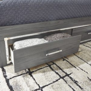 Lodanna - Gray - Full Panel Bed with Storage 1