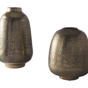 Miette - Antique Brass Finish - Vase Set (2/CN) 1