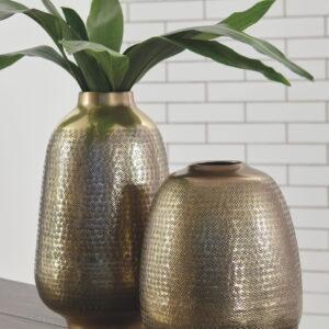 Miette - Antique Brass Finish - Vase Set (2/CN)