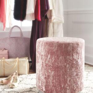 Lancer - Blush Pink - Accent Ottoman