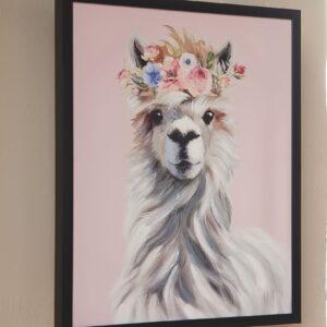Josie - Pink/White/Gray - Wall Art 1