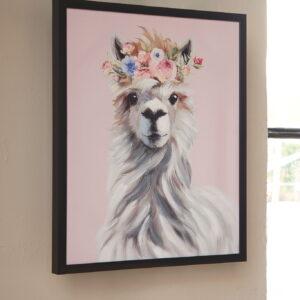 Josie - Pink/White/Gray - Wall Art