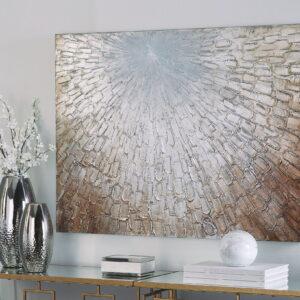 Elaina - Gray/White/Brown - Wall Art