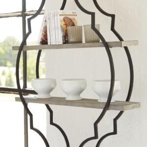 Candon - Antique Gray/Black - Wall Shelf