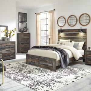 Drystan - Multi - Queen Panel Bed with Storage 1