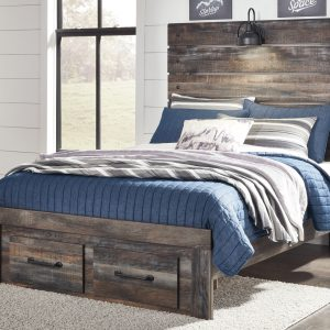 Drystan - Multi - Full Panel Bed with Storage