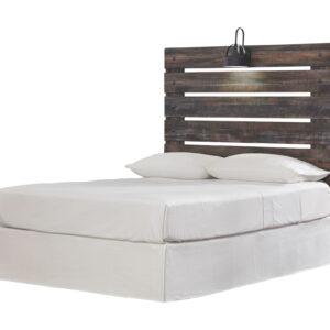 Drystan - Multi - Full Panel Headboard with Bolt on Bed Frame