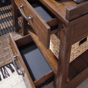 Baldridge - Rustic Brown - Printer Stand 1