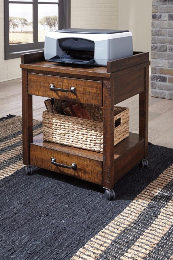 Baldridge - Rustic Brown - Printer Stand