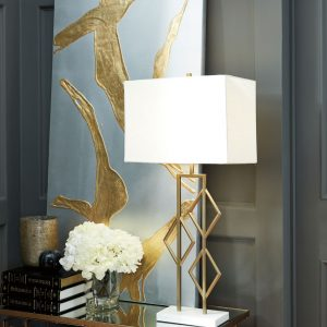 Edsel - Champagne/White - Metal Table Lamp (1/CN)