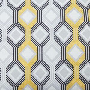 Mato - Gray/Yellow/White - Queen Comforter Set 1